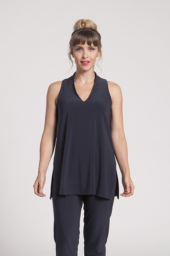 Sympli Sleeveless Deep V Tunic