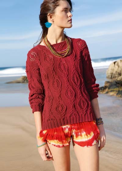 #02 Cable Lace Pullover