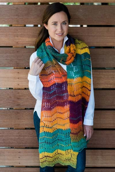"""Crazy Tilting Block Scarf"""